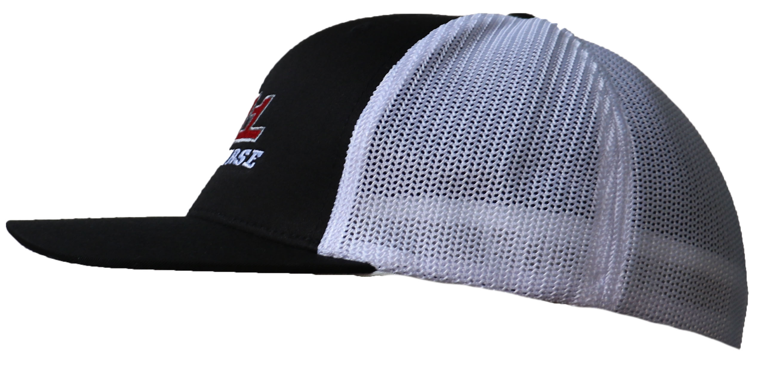 b926a6a0385f7 M1 Black and White Mesh Hat Side
